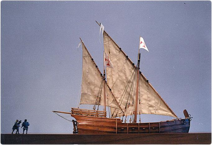 Karevelle Schiffsmodell 1:32, gebaut von Manfred Porath