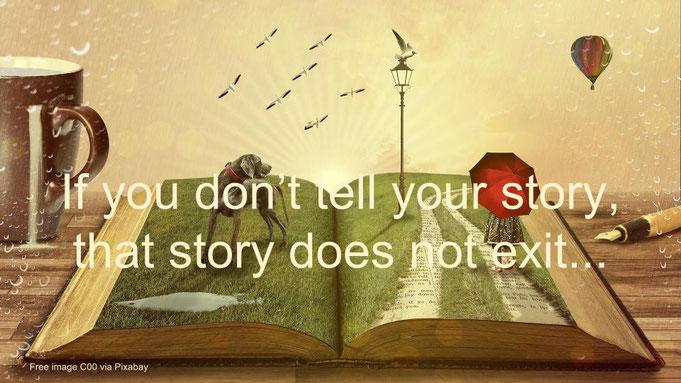 """""""Se non racconti la tua storia, quella storia non esiste"""" - cit. Angelo Bardini"""
