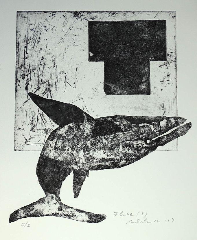 """Fluke 3"", Radierung, (Ätzung, Aquatinta, Kaltnadel) ca 40 x 35 cm"