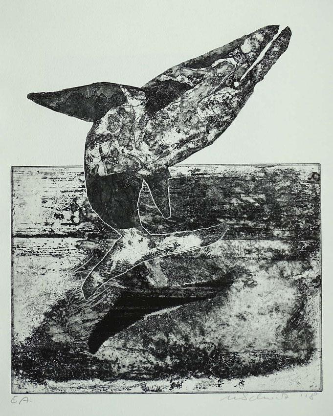 Radierung, (Ätzung, Aquatinta, Kaltnadel) ca 40 x 35 cm