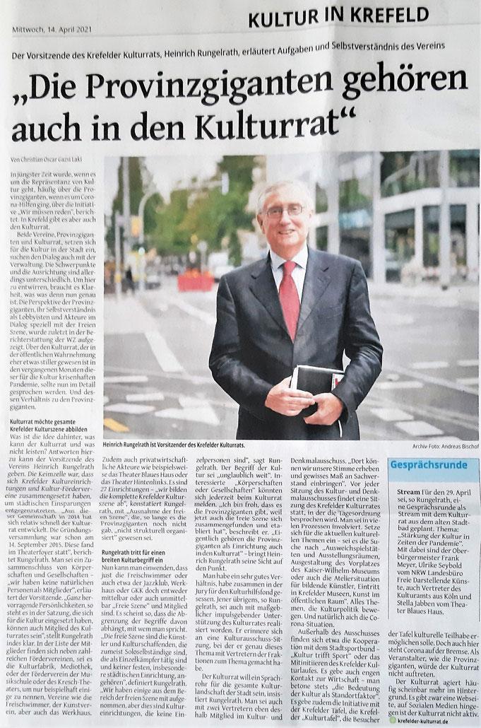 Westdeutsche Zeitung | 14.04.2021