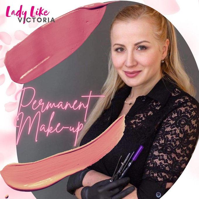 Permanent Make-up Düsseldorf, Lippen, Lidstrich, Augenbrauen
