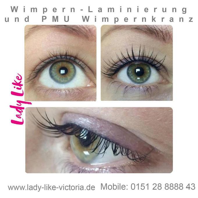 Wimpernkranz und Wimpern-Laminierung im Studie LadyLikeVictoria