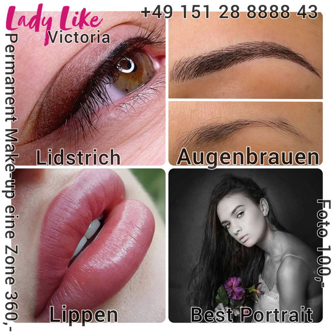 Permanent Make-up im Studio LadyLikeVictorioa