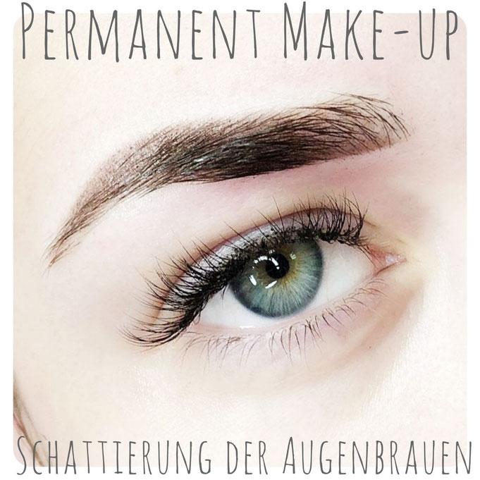 Schattierung der Augenbrauen Permanent Make-up Wuppertal