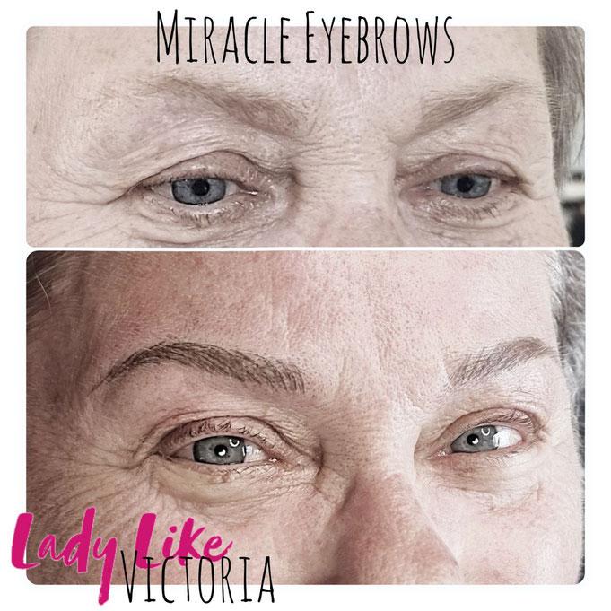 Blonde Augenbrauen Pigmentierung ist die höchste Kust, Coloristik (authentic Phons by LadyLikeVictoria, echte Kunden, echte Kunden von LadyLikeVictoria, echte PMU Ergebnisse)