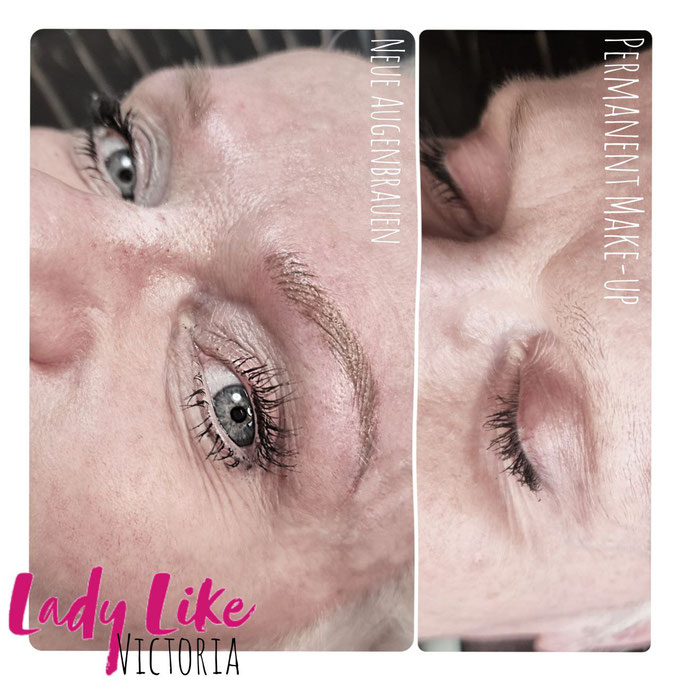 Blonde Augenbrauen für reife Haut