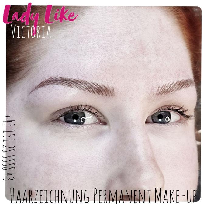 Authentisches Foto, Kundin von LadyLikeVictoria, Permanent Make-up der Augenbrauen, bitte klicke um mehr zu erfahren