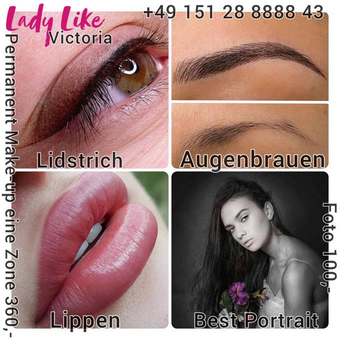 Permanent Make-up im Studio LadyLikeVictoria