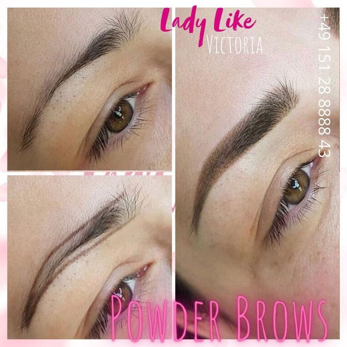 Schattierung der Augenbrauen / Powder Brows