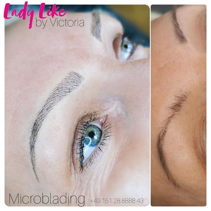 Microblading der Augenbrauen