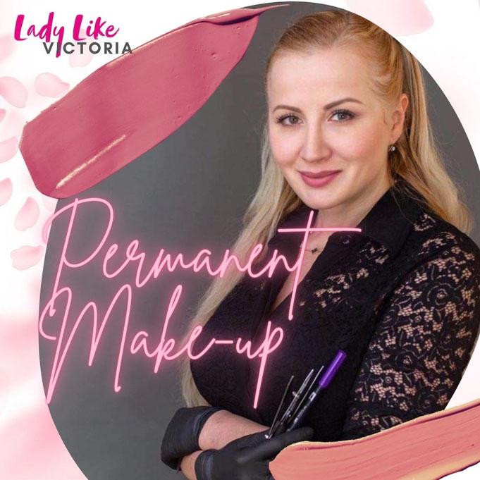 LadyLikeVictoria Permanent Make-up Wuppertal Lidstrich Wimpernkranz Augenbrauen Lippen