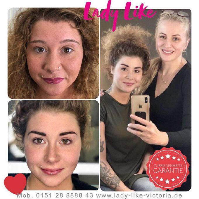 Kostenlose und unverbindliche Beratung für Permanent Make-up, mit Vorzeichnung