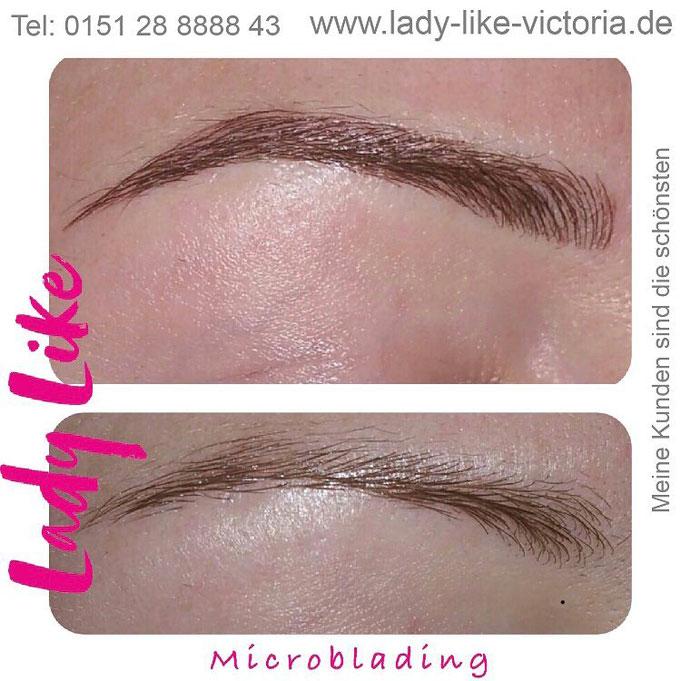 Schmale Augenbrauen Microblading für Essen NRW