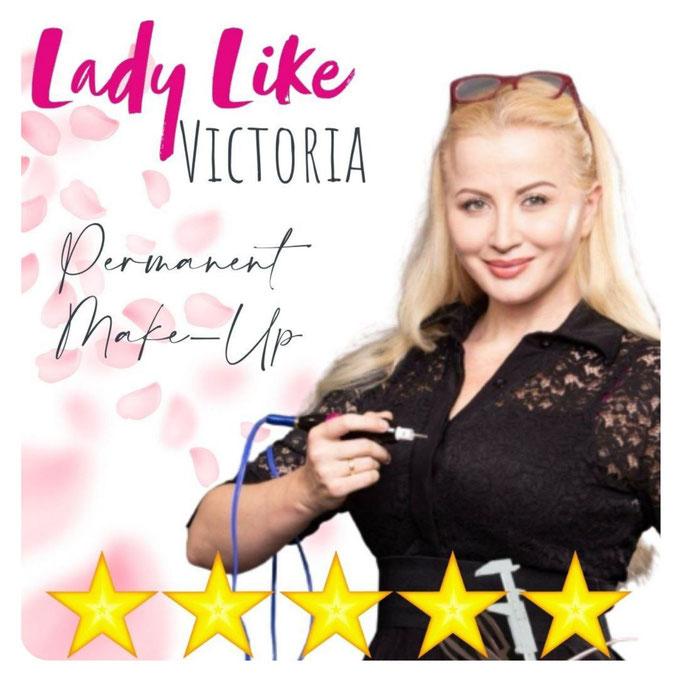 LadyLikeVictoria - beste Wahl für Permanent Make-up und Microblading