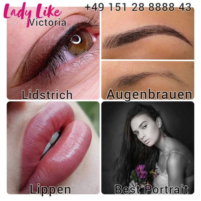 Permanent Make-up, Microblading, Augenbrauen, Lidstrich, Lippen, Portrait
