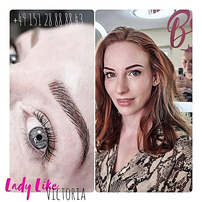 Augenbrauen Permanent Make-up Haarzeichnung