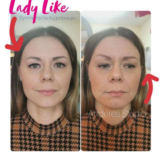 Symmetrie der Augenbrauen ist sehr wichtig!