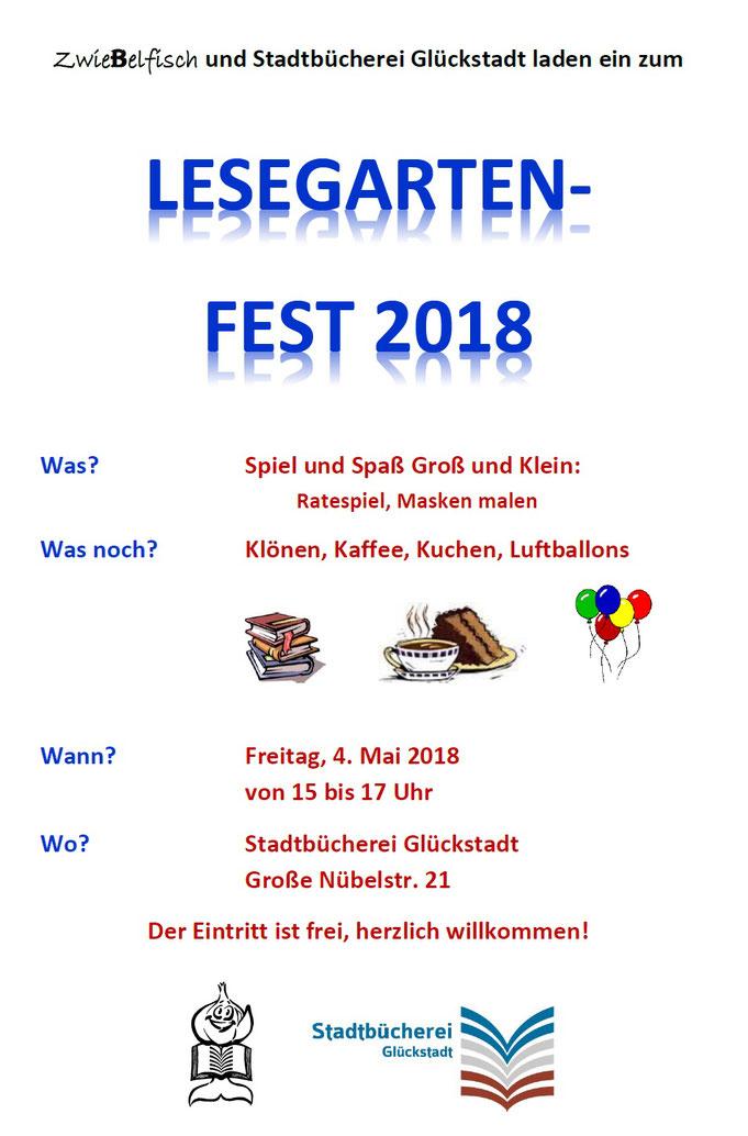 Lesegartenfest Plakat 2018