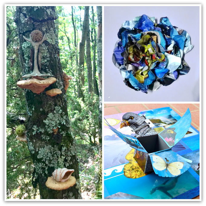 Examples of participants work in the Sparks of Wonder Program.