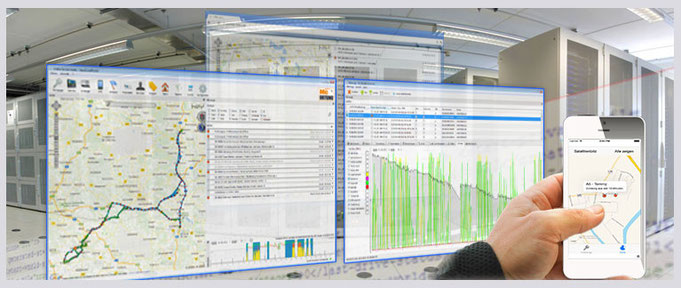 BaumaschinenOrtung mit Trackingsoftware