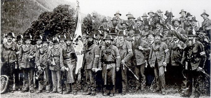 1910 Kompanie  unter Hauptmann Schröfele (Hptm. 1907 - 1913)