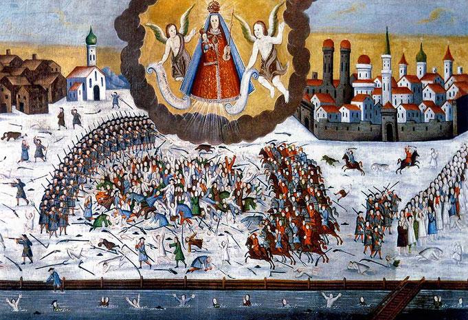 Votivbild der Bauernschlacht in der Kirche St. Laurentius zu Egern