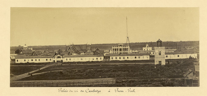 The Royal Palace of Phnom Penh, circa 1866-71, by Émile Gsell