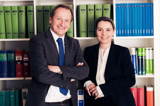 Fachanwälte für Arbeitsrecht in Düsseldof, RA Sabine Riese und RA André H. Tüffers