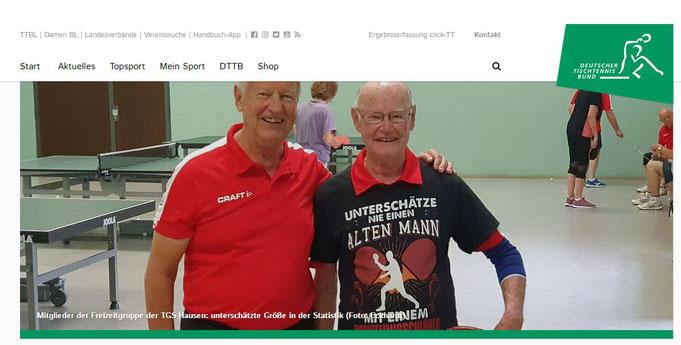 TGS-Senioren-Tischtennisspieler Peter & Paul