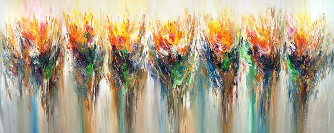 Abstraktes, modernes Gemälde. Elegantes, großes Original