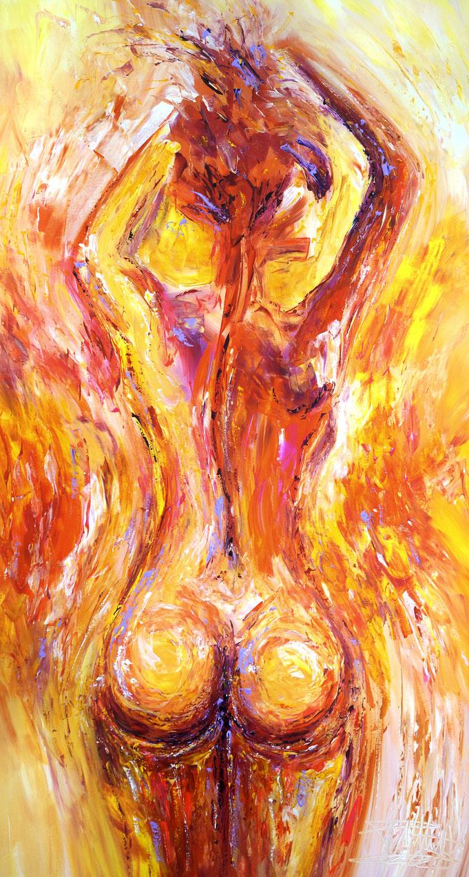 Akt, erotisches Gemälde, Mann, männlich, abstrahierte Malerei, moderne Kunst