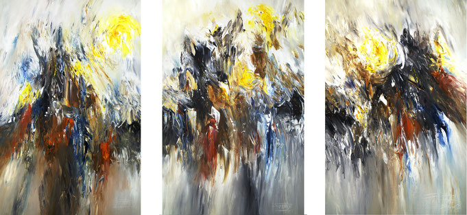 Abstraktes, modernes Gemälde. Mehrteiler