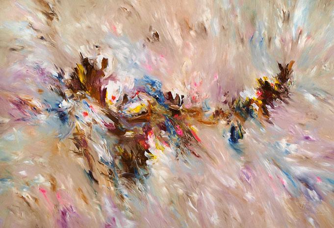 Großformat abstrakte, moderne Malerei
