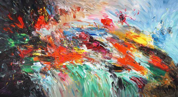 Moderne Malerei, Abstraktes Acrylgemälde