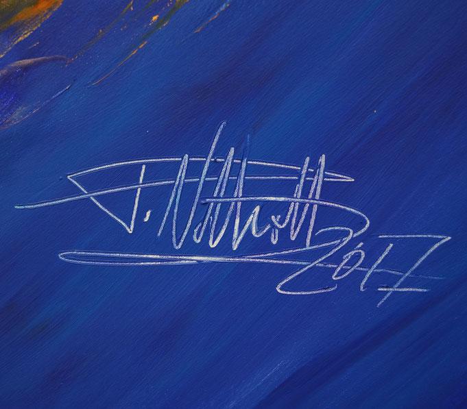Signatur des Kunstmalers Peter Nottrott und Jahr der Entstehung: 2017