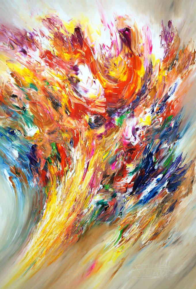 Abstraktes Acrylbild modern, leinwand, aufgespannt,