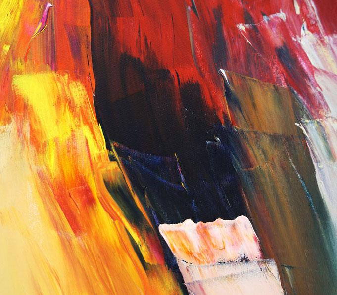 Zeitgenössisches, abstraktes Gemälde.