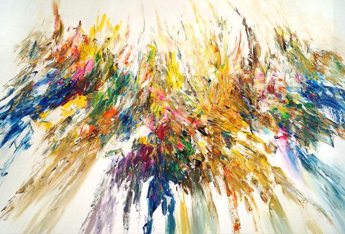 Abstraktes, modernes Gemälde grüm