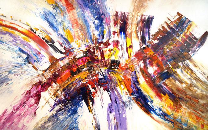 Großformatiges Acrylbild auf Leinwand. Abstrakte, moderne Malerei.