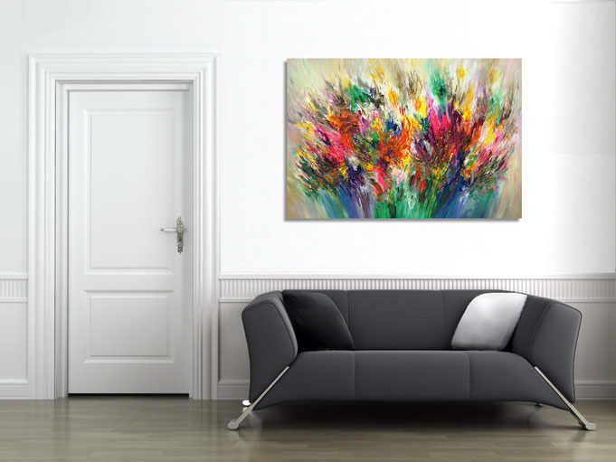 Sommer,  acryl, Gemälde, Original, Kunst, modern