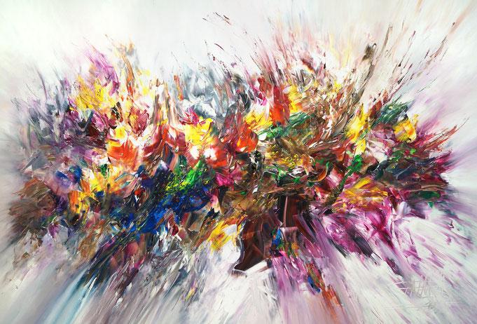 Abstraktes, modernes Gemälde