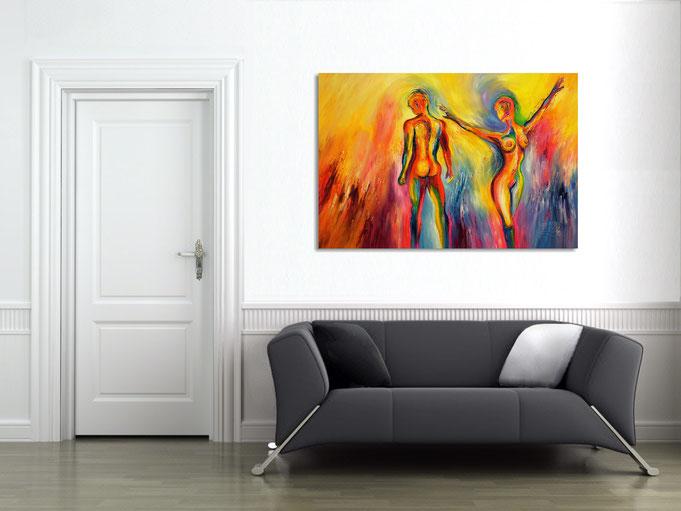 abstrahiertes Gesichter, Vincent van Gogh,  moderne Malerei, zeitgenössisches Kunstwerk, großes Bild