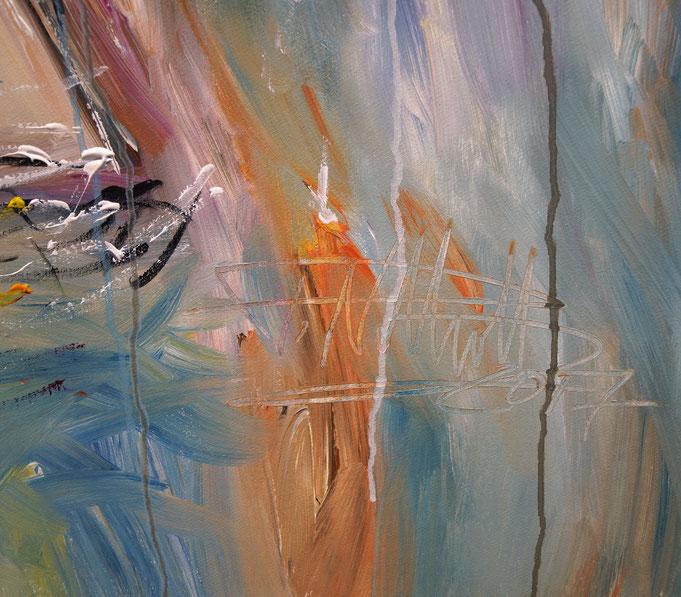 Signatur des Kunstmalers Peter Nottrott sowie Entstehungsjahr 2017