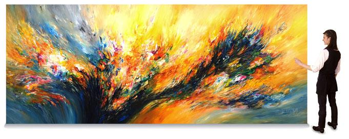 abstraktes Großformat online Gemäldegalerie