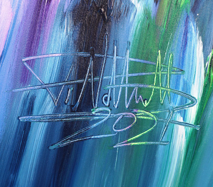 Signatur des Kunstmalers Peter Nottrott und Jahr der Entstehung: 2021