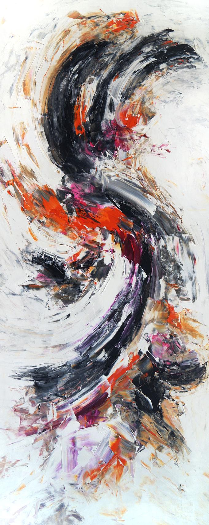 Abstraktes Hochformat, modernes Gemälde