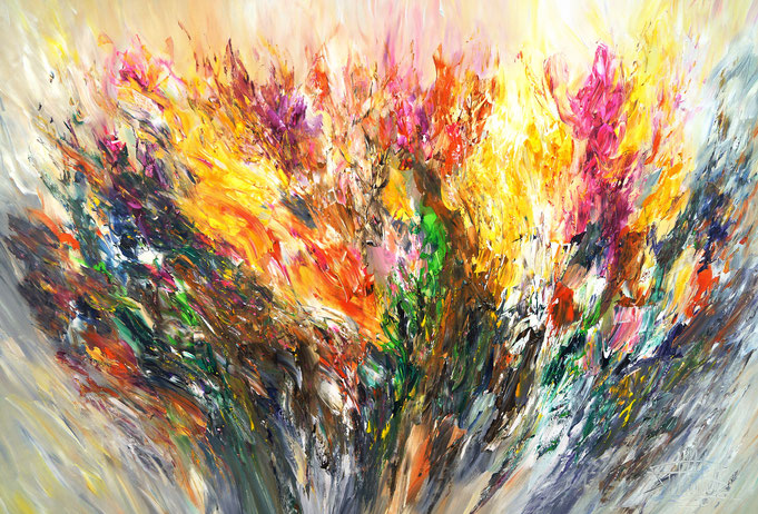 Abstraktes, buntes Gemälde