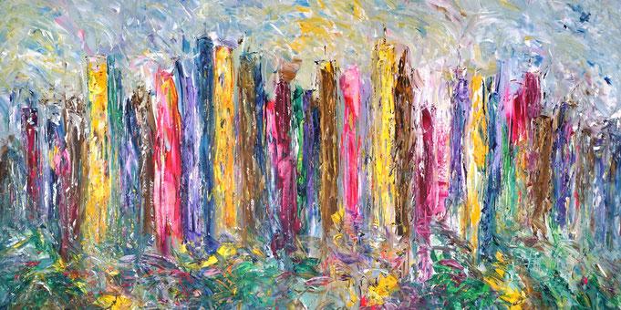 Figuratives Gemälde, urban expressionistisch, moderne Malerei, Peter Nottrott
