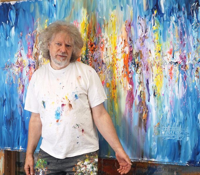 gerade fertig gemalt: Peter Nottrott mit Seaside Rendezvous XL 8